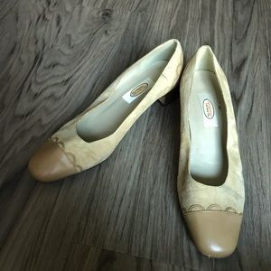 "Talbots Suede Leather Slip On 2"" Heels Pumps"